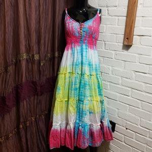 Women's Tye Dye Indian Summer Dress